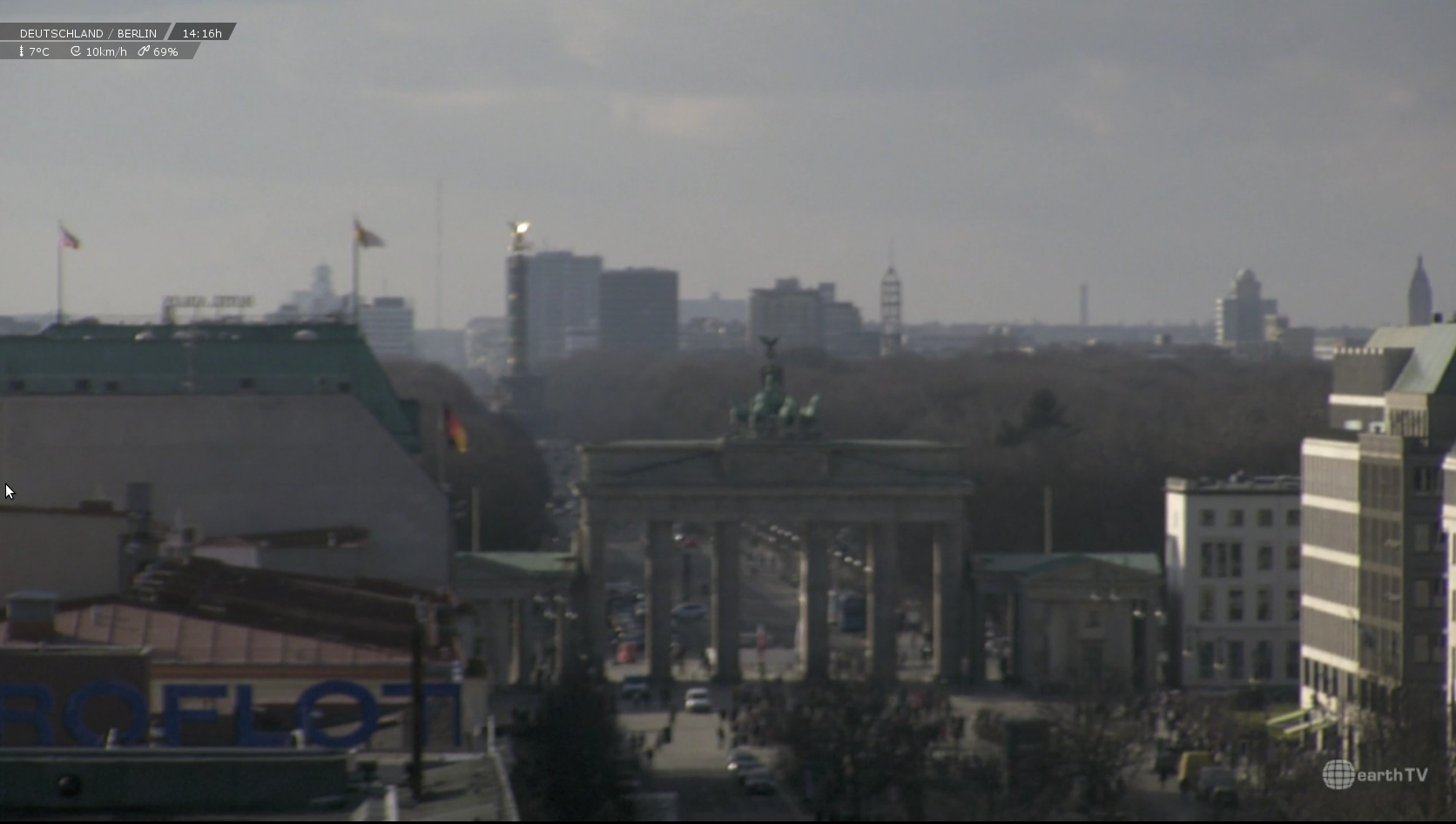 Webcam vom Brandenburger Tor